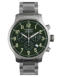 Filson | Metallic 'the Mackinaw Field' Chronograph Bracelet Watch for Men | Lyst