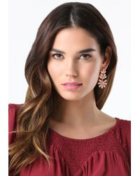 Bebe | Pink Floral Drop Earrings | Lyst