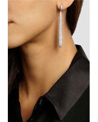 Kenneth Jay Lane - Metallic Rhodium-Plated Cubic Zirconia Earrings - Lyst