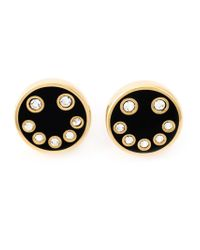 Marc By Marc Jacobs - Black Enamel Smiley Studs - Lyst