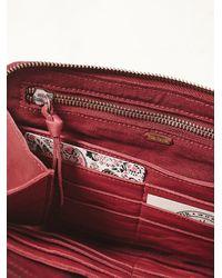 Free People - Purple Distressed Travel Wallet - Lyst