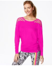 Trina Turk | Purple Recreation Laser-cut Top | Lyst
