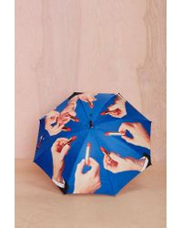 Nasty Gal | Blue Seletti Wears Toiletpaper Lipstick Umbrella | Lyst