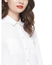Kate Spade | White Poplin Button Down | Lyst