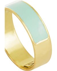 Inez & Vinoodh | Green Enameled 18-karat Gold Ring | Lyst