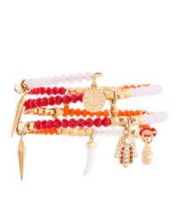 Henri Bendel - Multicolor St Tropez Charm Coil Bracelet - Lyst