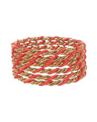 Forever 21 | Red Twisted Bangle Set | Lyst