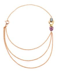 Daniela Villegas - Green 18k Yellow Gold Sapphire & Emerald Khepri Bracelet - Lyst