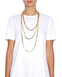 Rosantica By Michela Panero | Metallic Schiava Three-Layer Pearl-Detail Necklace | Lyst