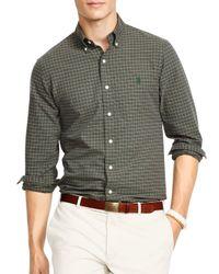 Ralph Lauren   Green Polo Plaid Oxford Shirt for Men   Lyst