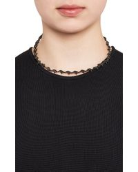 Lynn Ban - Black Diamond Black Rhodiumplated Sterling Silver Barbed Wire Choker - Lyst