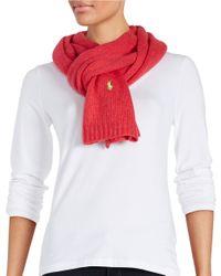 Polo Ralph Lauren | Pink Plush Alpaca Knit Scarf | Lyst