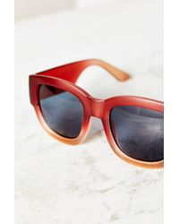 Urban Outfitters | Red Becker Square Sunglasses | Lyst