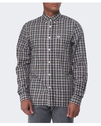 Fred Perry - Red Herringbone Check Shirt for Men - Lyst