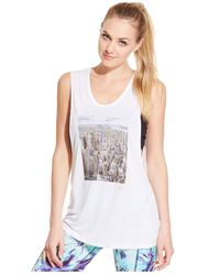 Betsey Johnson | White Graphic-print Muscle Tank Top | Lyst