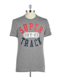 Superdry | Gray Trackster Tee for Men | Lyst