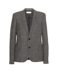 Saint Laurent - Gray Wool Blazer - Lyst