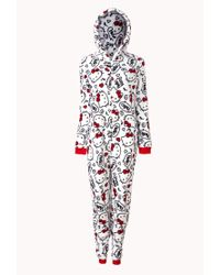 Forever 21 | Multicolor Hello Kitty Hooded Pj Onesie You've Been Added To The Waitlist | Lyst