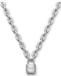 Michael Kors | Metallic Padlock Toggle Necklace | Lyst