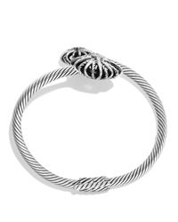 David Yurman | Metallic Starburst Open Bracelet With Diamonds | Lyst