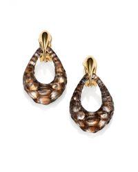 Alexis Bittar | Black Kinshasa Crocodile-Textured Lucite Link Drop Earrings | Lyst