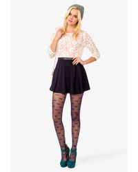 Forever 21 - Natural Floral Pattern Lace Top - Lyst