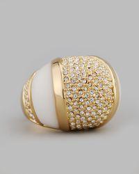 Rachel Zoe | Metallic Domed Crystal Ring | Lyst