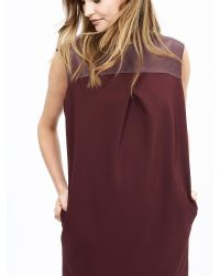 Banana Republic | Red Br Monogram Leather Cocoon Dress | Lyst