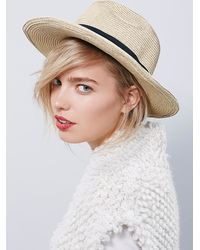 Free People - Natural Sun N Sand Womens Stockton Straw H - Lyst