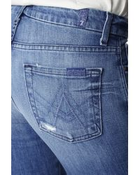 """7 For All Mankind Blue """"a"""" Pocket Flare"""