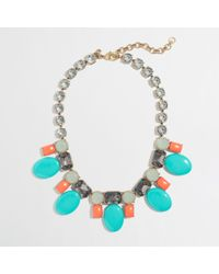 J.Crew | Green Factory Crystal Candy Necklace | Lyst