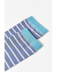Urban Outfitters | Blue Lightweight Thin Stripe Sock for Men | Lyst