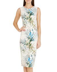 Ted Baker | Green Loua Twilight Floral Midi Dress | Lyst