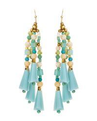 Nakamol - Fourstrand Crystalseed Bead Earrings Light Blue - Lyst
