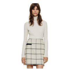 Tory Burch | Natural Plaid Side-pocket Skirt | Lyst
