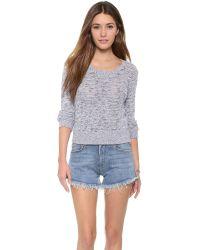 Monrow - Black Salt & Pepper Sweater - White - Lyst