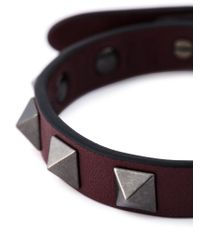 Valentino - Purple 'Rockstud' Bracelet for Men - Lyst