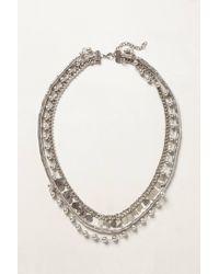 Anthropologie   Metallic Serenata Layered Necklace   Lyst