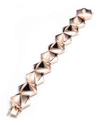 Eddie Borgo | Pink Bent Pyramid Bracelet | Lyst