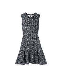 Rebecca Taylor - Gray Sleeveless Lace Bonded Dress - Lyst