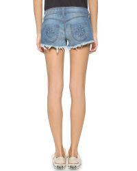 Siwy - Blue Camilla Cutoff Shorts - Crazy Horse - Lyst
