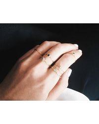 Vrai & Oro | Yellow Baguette Diamond Ring | Lyst