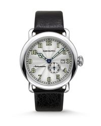 Szanto - Black Automatic Classic Stainless Steel Watch for Men - Lyst