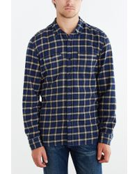 Stapleford - Blue Chico Plaid Flannel Button-down Shirt for Men - Lyst