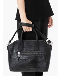 Mango | Black Zip Tote Bag | Lyst