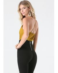 Bebe | Yellow High Waist Bodysuit | Lyst