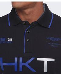 Hackett - Black Aston Martin Racing Logo Polo Shirt for Men - Lyst