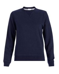 Sunspel - Blue Women's Loopback Cotton Sweatshirt - Lyst