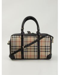 Burberry | Black Haymarket Check Tote | Lyst