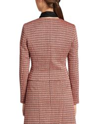 HUGO - Pink 'andrisa'   Cotton Blend Abstract Weave Jacket - Lyst